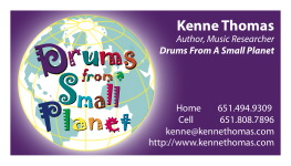 Drums From A Small Planet card
