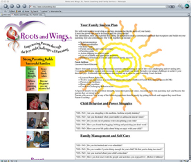 Roots and Wings Parent Coaching web site design.